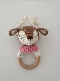 Rammelaar hertje bruin - roze