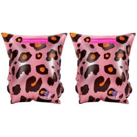 Roze Panter Print Zwembandjes Essentials  2-6 jaar