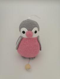 Muziekdoosje pinguin Pepe roze