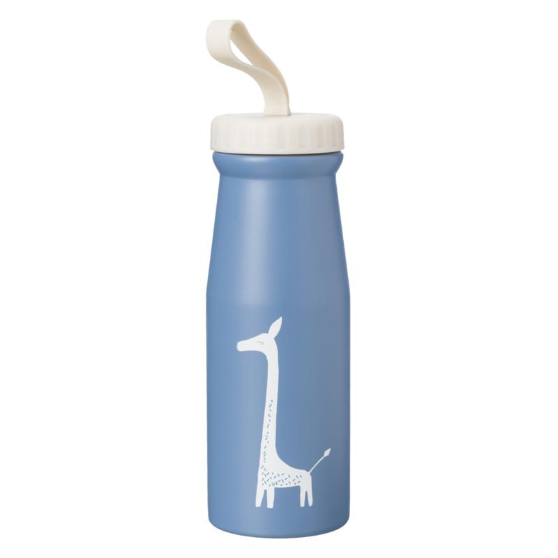 Fresk thermosfles giraf 380 ml donker blauw