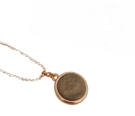 Ketting, bruin sparkle 20mm *