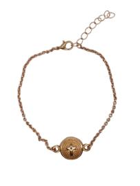 RVS armbandje rosé goud kruis