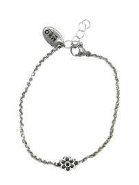 RVS armbandje zilver 1.4mm bloem