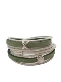 Wikkelarmband mint groen