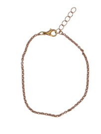RVS armbandje rosé goud 2mm