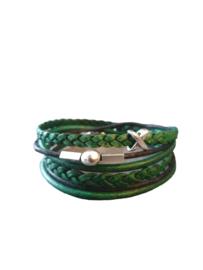 Wikkelarmband classic green