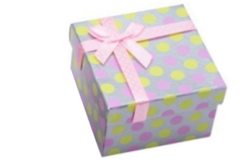 Cadeauverpakking armband stippel roze