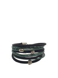 Wikkelarmband tumarin/zwart