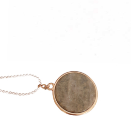 Ketting, bruin sparkle 35mm
