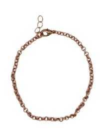 RVS armbandje rosé goud 3mm