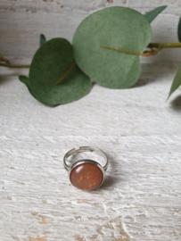 Ring bruin 12mm