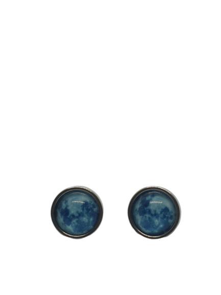 """Moon """"blue"""" oorbellen"""