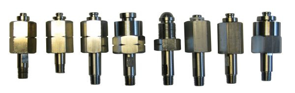 NEN cilinderaansluiting Messing-verchroomd, NPT aansluiting