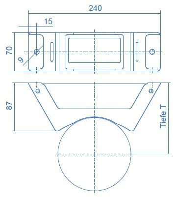 Cilinderhouder met ketting, voor 1 cilinder