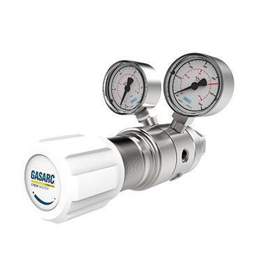SGT620, RVS tweetraps drukregelaars voor hoogzuivere gassen, instelbaar tot 50 bar