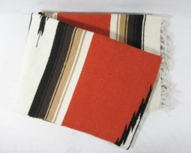 MEXICAN DIAMOND CENTER BLANKET DARK ORANGE