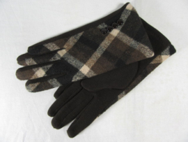 GLOVES CHECKERED BROWN
