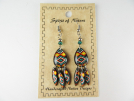 SOUTHWEST STYLE EARRINGS. LIGHTBLUE