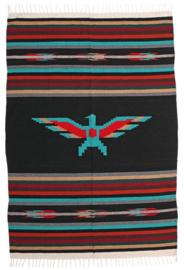 MEXICAANSE THUNDERBIRD DEKEN ZWART