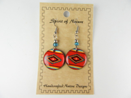 SOUTHWEST STYLE EARRINGS. RED