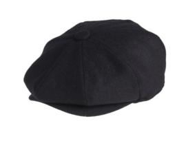 PEAKY BLINDERS NEWSBOY CAP. BLACK