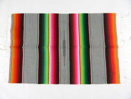 MEXICAN SERAPE PLACEMAT / TABLEMAT. GREY