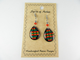 SOUTHWEST STYLE EARRINGS. BLACK