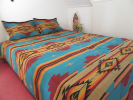 SOUTHWEST BEDSPREAD TURQUOISE