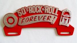 50'S ROCK 'N ROLL FOREVER KENTEKEN LIJST TOPPER. ROOD