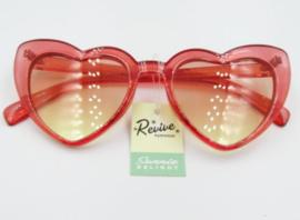 HEART SUNGLASSES. RED