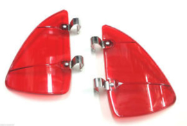WIND AND RAIN DEFLECTOR SET FOR THE VENT WINDOWS.  RED