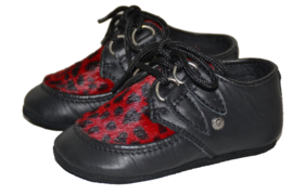STEELGROUND BABY WILDCAT CREEPER SHOES BLACK
