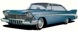 """1957 PLYMOUTH STYLE HUBCAPS 15"""""""