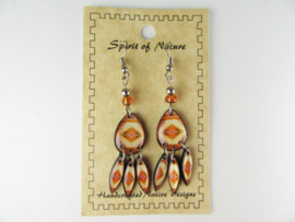 SOUTHWEST STYLE EARRINGS. CAMELBROWN