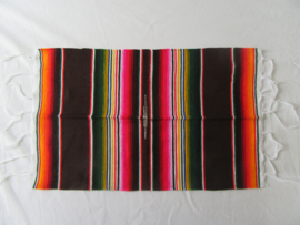 MEXICAN SERAPE PLACE MAT / TABLE MAT. BROWN