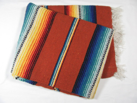 MEXICAN RIO BRAVO BLANKET DARK ORANGE