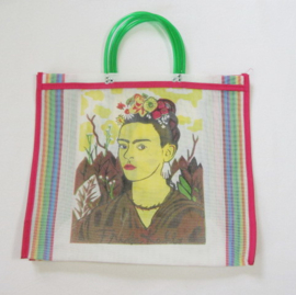 SHOPPER BAG WITH FRIDA KAHLO PRINT
