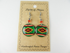 SOUTHWEST STYLE EARRINGS. GREEN