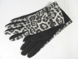 GLOVES LEOPARD GREY