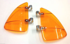 WIND AND RAIN DEFLECTOR SET FOR THE VENT WINDOWS. AMBER