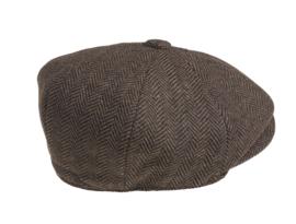 PEAKY BLINDERS NEWSBOY CAP. HERRINGBONE BRUIN