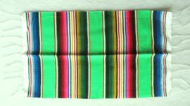 MEXICAANSE SERAPE PLACEMAT / TAFELMAT. FEL GROEN