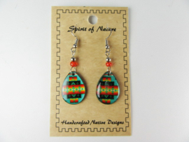 SOUTHWEST STYLE EARRINGS. TURQUOISE
