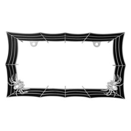SPIDERWEB LICENSE PLATE FRAME