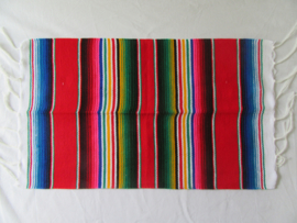 MEXICAN SERAPE PLACE MAT / TABLE MAT. RED