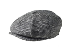 PEAKY BLINDERS NEWSBOY CAP. BIRDS EYE ZWART