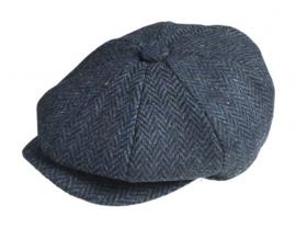 PEAKY BLINDERS NEWSBOY CAP. HERRINGBONE BLUE