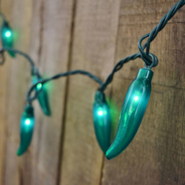 CHILLY PEPPER VERLICHTING 20 LAMPJES, GROEN