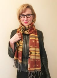 SCARF SOUTHWEST STYLE BRICK RED