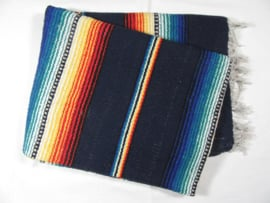 MEXICAN RIO BRAVO BLANKET DARK BLUE